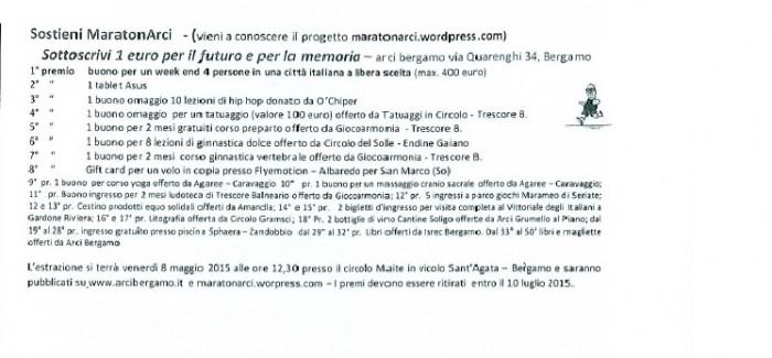 """ESTRAZIONE BIGLIETTI """"MARATONARCI"""""""