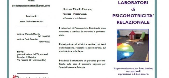 Laboratori organizzati dall'Associazione E-MOTION!