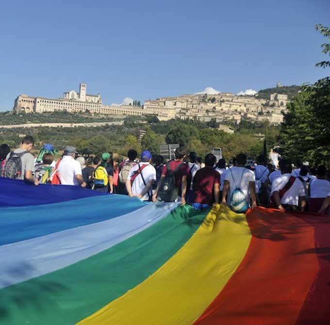 Verso la Perugia Assisi per un' Europa senza muri